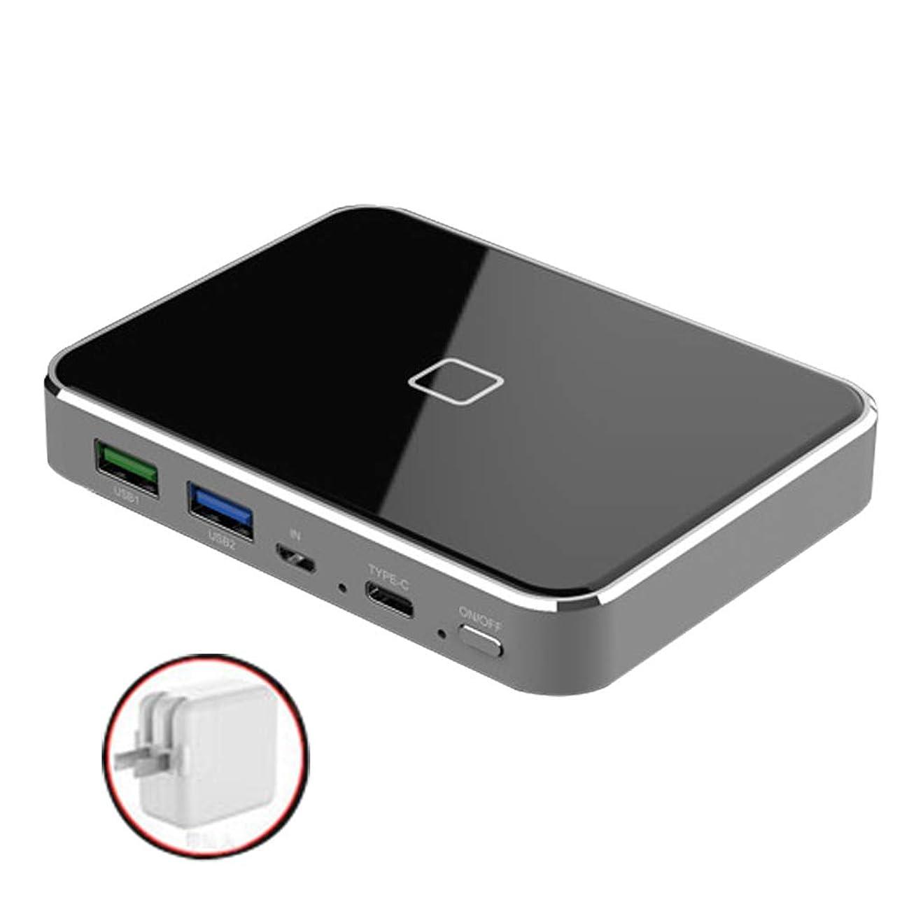 ひばり昇進嫌いBamboo グラフェン双方向PD18W急速充電10000MAH LCDワイヤレスモバイル電源超薄型コンパクト、1Type-c、2USBポートポータブル60Wアダプタ急速充電、iPhone/Huaweiなどの一般的な