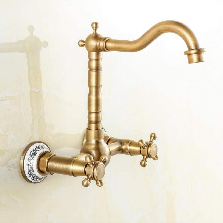 SISHUINIANHUA Antike Bronze Finish 360 Grad Swivel Messing Becken Wasserhahn Bad Becken Waschbecken Mixer Küchenarmatur Wasserhahn
