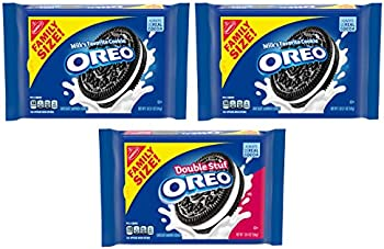 3-Pack OREO Sandwich Family Size Cookie Packs (2x Original + Double Stuf)