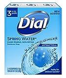 Dial Antibacterial Deodorant Soap, Spring Water, 4 Ounce, 3 Bars