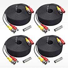 ANNKE (4) 150 Feet Video Power Cable for Security Camera System, All-in-One BNC Video and Power CCTV Security Camera Cable with Female Connectors