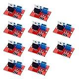 ZkeeShop 10Pcs IRF520 MOSFET Driver Module Output 0-24V Compatible for Arduino Raspberry Pi Arm MCU