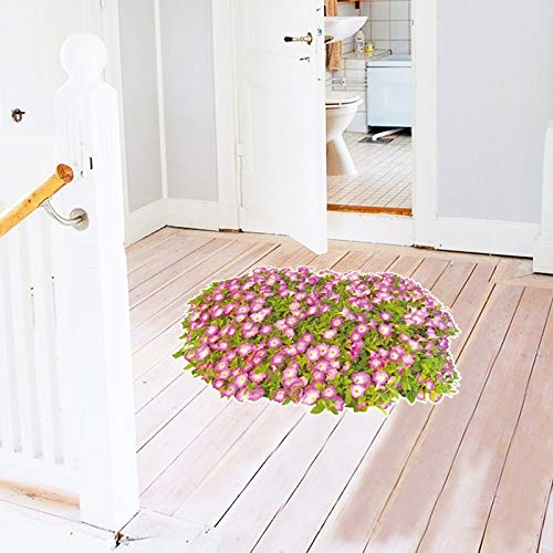 3D Flowers Floor Stickers Nature Wall Stickers Bathroom Living Room Bedroom Decals Articles Stickers