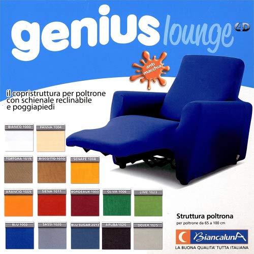 Biancaluna Relax Genius Lounge, Copripoltrona per Poltrone Reclinabili, Copridivano 1 Posto, Bordeaux