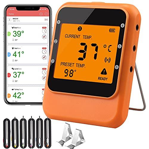 Fleischthermometer JiGiU Bluetooth Grill...