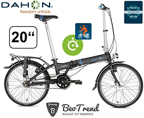 DAHON Faltrad VITESSE D7HG shadow ND/7Gang/20Zoll/inkl. Dahon Pumpe/DeluxeVersion