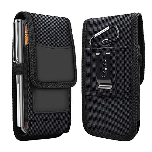 EBIZCITY iPhone 11 Pro Max Phone Holster Pouch Wallet Case with Belt Clip