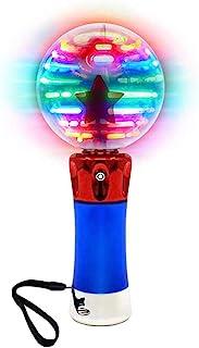 Jxfrice Spinning Light Up Wand voor kinderen in geschenkdoos, Roterende LED Toy Wand voor jongens en meisjes, magische pri...