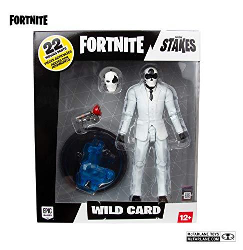 McFarlane Fortnite Figura Wild Card Negro, Multicolor (10614) 6