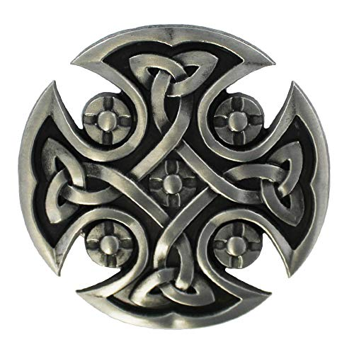 eeddoo Belt Buckle - Celtic Cross Design (Buckle for change Belt for men and women)