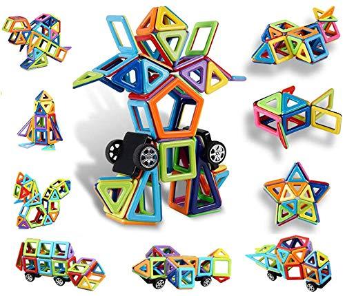 Innoo Tech Magnetische Bausteine, 76tlg Mini Inspirierende Bauklötze, Magnetbausteine Konstruktion Blöcke, Magnetspielzeug Lernspielzeug, Tolles Geschenk für Kinder ab 3 Jahr