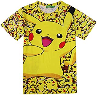 Fashion Men Womens 3D Printed Cartoon Pikachu Funny Short Sleeve T-Shirt Summer Tops Clothes