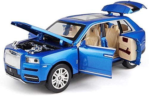 wangch 1/24 Scale Rolls-Royce Cullinan Metal Car Toy Alloy Car with Lights | High Simulation | Scale 1:24Blue
