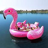 6-Persona Grande del Flamenco Cama Flotante Isla Flotante Juguetes Inflables para Adultos-Bote Neumático Flotante del Flotador De Gran Tamaño Gigante Agua Flota Flotador Juguetes- 480cm Pink-480cm