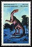 Staurikosaurus, Dinosaur -Handmade Framed Postage Stamp Art 22919AM