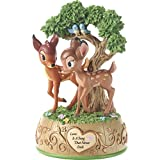 Precious Moments 179710 Love is A Song That Never Ends Disney Showcase Bambi & Faline Resin Music Box, Multicolor