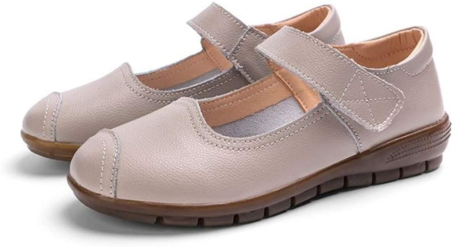 Unyielding1 Women's Leather Slip-on Loafers Moccasins Casual Flat Driving Boat shoes