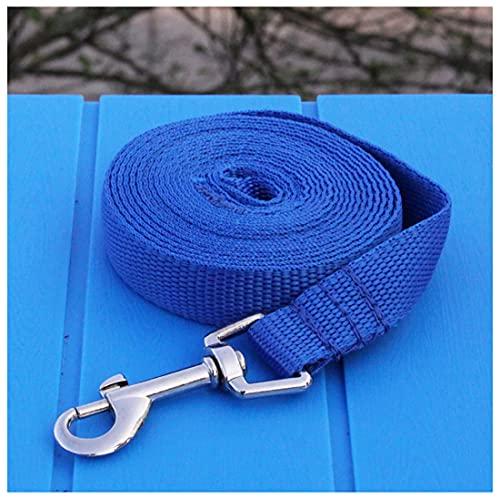 GERYUXA Correa Perro para Perros Pequeños Grandes Medianos Fricción Antideslizante Resistente Nylon con,Ancho 2 Cm(Size:10m,Color:Azul)