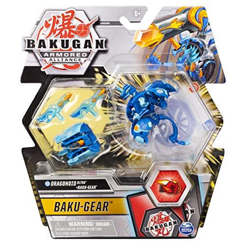 Bakugan Ultra, Aquos Dragonoid with Transforming Baku-Gear, Armored Alliance 3-inch Tall Collectible Action Figure