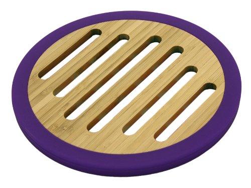 Totally Bamboo BA206650 Dessous de plat en bambou/silicone violet Ø20 cm
