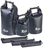 Xcase Dry Bag Beutel: 3er-Set wasserdichte Packsäcke aus LKW-Plane, 5/10/20 Liter, schwarz...