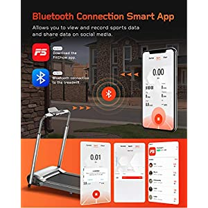 WEKEEP Folding Portable Treadmill Manual Compact Walking Running Machine Workout Electric Desk Treadmills for Small Spaces Treadmills with LED Display for Home Office Gym Use