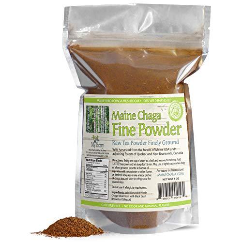 Maine Chaga Tea Fine Mushroom Powder, No...