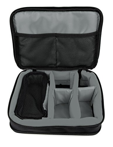 DURAGADGET Protective Black & Grey EVA Carry Case with Adjustable Dividers & Reinforced Base - Compatible with Garmin Edge 830, Performance GPS Cycling/Bike Computer & Accessories