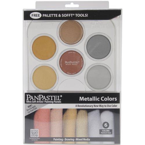 Colorfin PanPastel Ultra Soft Artist Pastel Set Pastel 9ml 6 kg - Métallique