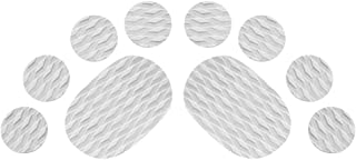MonkeyJack 10 Pieces Diamond Grooved Grey EVA Deck SUP Traction Pad Grip for Dog Stand Up Paddleboard Surfboard - Self Adhesive & Non-slip