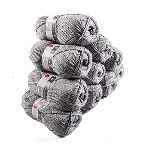 Laines Cheval Blanc - Lot 10 pelotes de laine (10x50g) UTTACRYL 100% acrylique - 1300 m de laine pour tricot et crochet