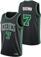 OLIS Hombre Ropa de Baloncesto NBA Boston Celtics 7# Brown Jersey Camiseta de Baloncesto da Bordado