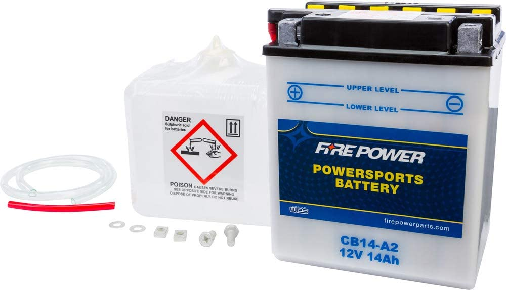 Fire Power Battery W ACID CB14-A2 Arctic Cat 500 Gorgeous Max 54% OFF With Compatible
