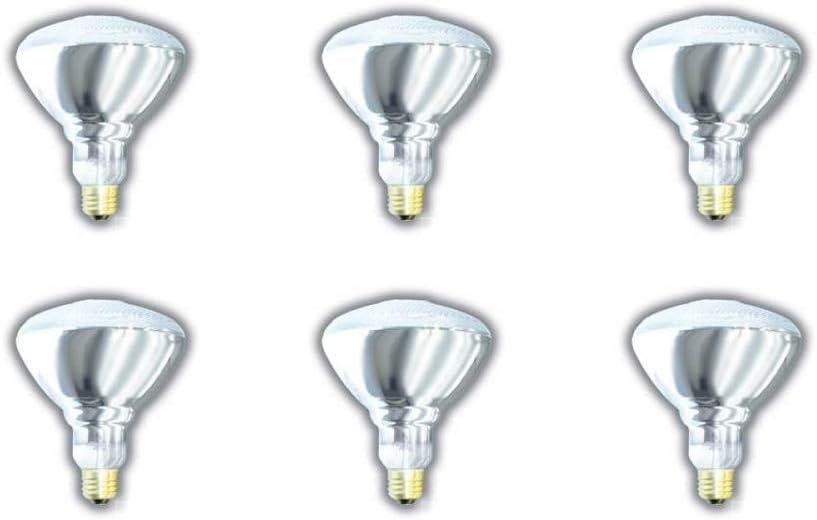 6 Pack Austin Mall Be super welcome SHATTERPROOF Light Bulb BR38 WATT 100 Incandescent