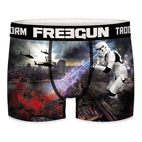 FREEGUN Boxer Hommes Star Wars Funny Stormtrooper La Guerre des étoiles Meme Print 1-Pack S M L XL XXL - Taille: M, Couleur: Motif 4 (SFSTT31BMGOD)