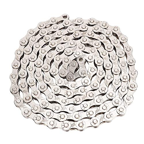 Best Deals! Wolfgo Road Bike Chain-Silver Metal 116 Links Mountain Bike Road Bicycle 6/7/8 Speed Cha...