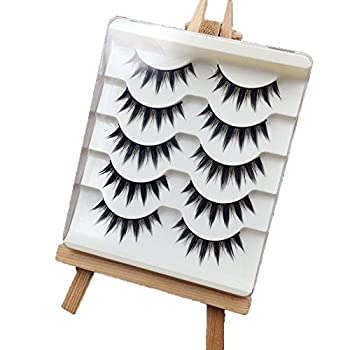 Okdeals 5 Pairs/set Trendy Women False Eyelashes Japanese Style Makeup Long Thick Eyelash Extension Beauty Cosmetic Tools