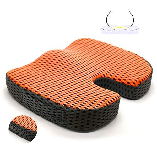 ZXLLAFT Gel Orthopädische Sitzkissenpolster für Auto, Bürostuhl, Rollstuhl oder Zuhause. Druckschmerzen Linderung. Ultimativer Gelkomfort,D