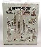 Álbum de fotos en relieve de la ciudad de Nueva York, 200 fotos, 4 x 6