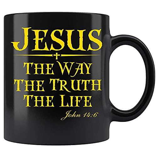 Jesús, el camino, la verdad, la vida, Juan 14-6, versículo bíblico cristiano, taza de café de cerámica, taza de té