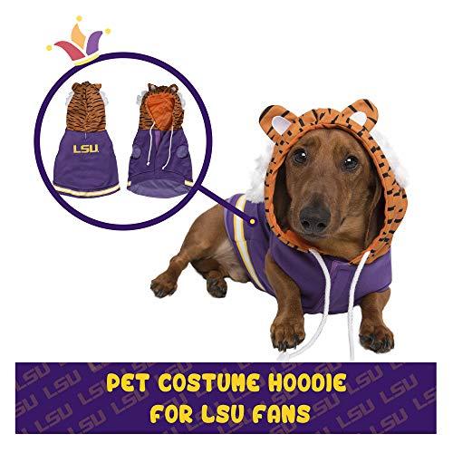 Pet Krewe LSU Hundekostüm für Hunde und Katzen, Motiv: Mike The Tiger, Fußball-Kostüm für Hunde und Katzen, Größe S, M, L und XL, Small