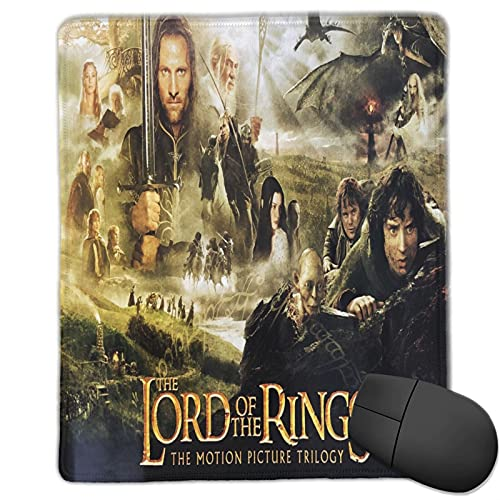 Atsushi Lord of The Rings The Mouse Pad with Stitched Edge Premium-Textured Mouse Mat Rectangle Non-Slip Rubber Base Gaming Vertical Mouse Pad,for Laptop Computer & Pc 10x12 in
