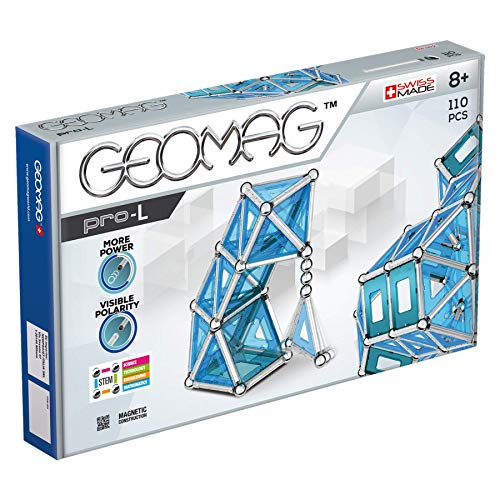 Geomag Pro-L Kit – 110 Piece Magnetic Construction Set