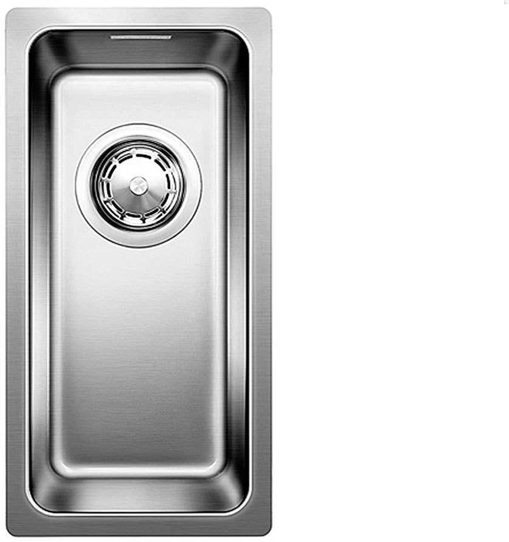 Weiß Küchenspüle ANDANO 180-U eckig Edelstahl 1 Becken eckig