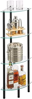 mDesign Estante esquinero de pie – Estantería metálica con 4 baldas para baño Pasillo despacho o Dormitorio – Estante Or...