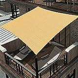 Osimlead 8' x 12' Sun Shade Sail Rectangle Canopy UV Block for Patio Backyard Outdoor Activities Sand