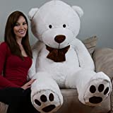 Yesbears 5 Foot Giant Teddy Bear Cream White (Love Pillow Included)
