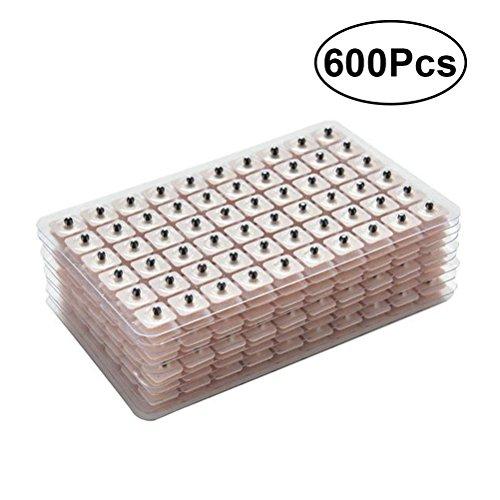 ULTNICE 600 stücke Akupunktur Magnetische Einweg Ohr Perlen Pellets Samen (10 Blätter)