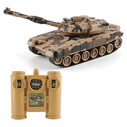 GizmoVine RC Panzer Tank 1/28 Fernbedienung 27 MHz Schlacht Tank für Kinder
