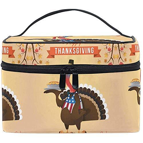 Maquillage Sac Thanksgiving Turquie Voyage Cosmétique Sacs Organisateur Train Cas Toilette Maquillage Pochette